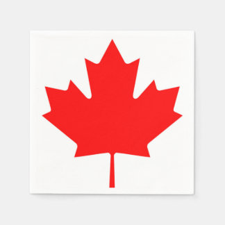Canadian Flag of Canada Red Maple Leaf Napkins