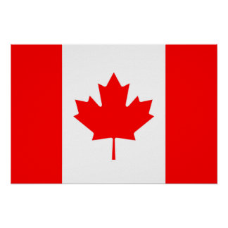 Canadian Flag of Canada Red Maple Leaf Poster