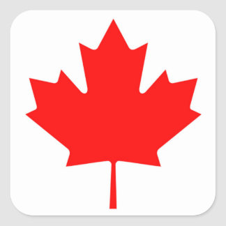 Canadian Flag of Canada Red Maple Leaf Stickers