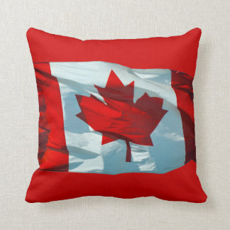 """Canadian Flag """"Oh Canada"""" North America Patriotic Throw Pillow"""