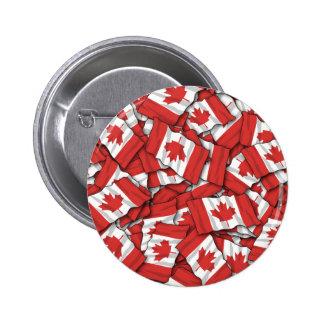 Canadian Flag Pattern Design Pinback Button