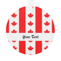 Canadian flag pattern ornament