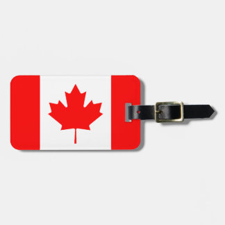 Canadian Flag Personalized Luggage Tag