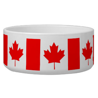 Canadian Flag Pet Bowl