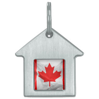 Canadian Flag Pet Name Tag
