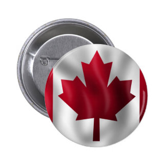 Canadian Flag Pinback Button