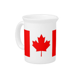 Canadian Flag Pitcher