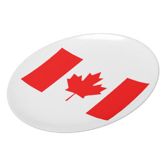 Canadian Flag Plate