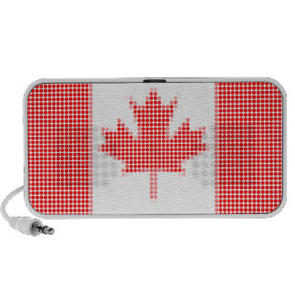 Canadian flag polka dots PC speakers