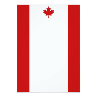 Canadian Flag Portrait Invitation