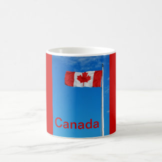 Canadian flag print coffee mug