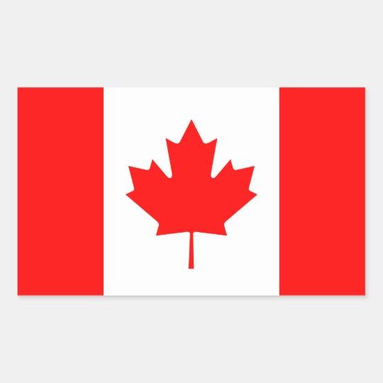 Canadian Flag Rectangular Sticker