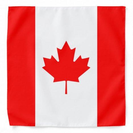 Canadian Flag Red Maple Leaf Bandana