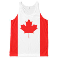 Canadian Flag Red Maple Leaf Full Print Tank Top