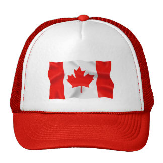 Canadian Flag - Red Trucker Hat