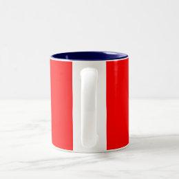 Canadian Flag Rope Shield Two-Tone Coffee Mug