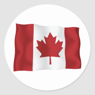 Canadian Flag Round Sticker