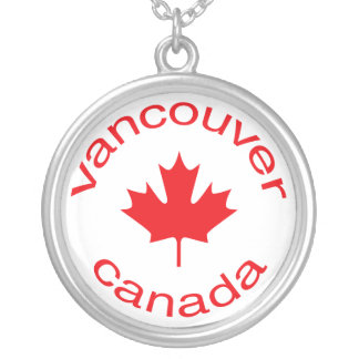 Canadian Flag Silver Plated Necklace