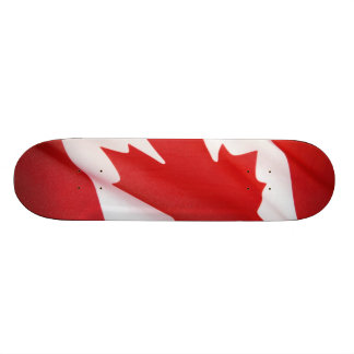 Canadian flag skateboard