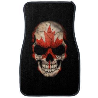 Canadian Flag Skull Floor Mat