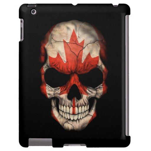 Canadian Flag Skull on Black