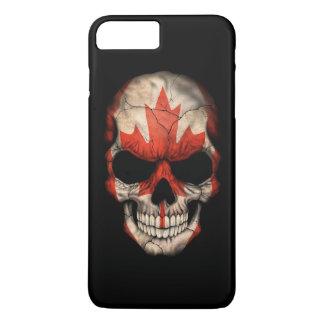 Canadian Flag Skull on Black iPhone 8 Plus/7 Plus Case
