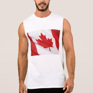 Canadian flag sleeveless shirt