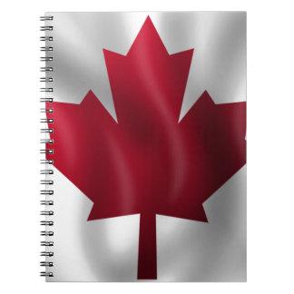 Canadian Flag Spiral Notebook