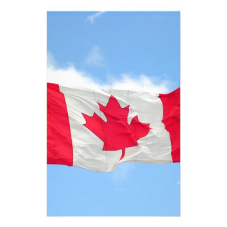 Canadian Flag Stationery