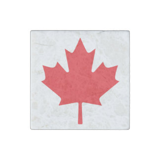 Canadian Flag Stone Magnet