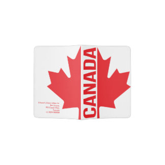 Canadian flag style address passport cover passport holder