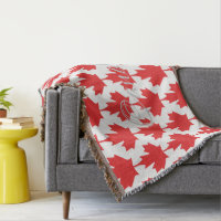 CANADIAN FLAG THROW BLANKET HAVIC ACD