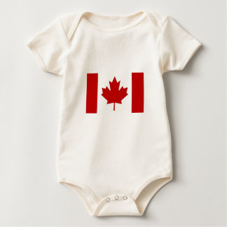Canadian Flag Toddlers Apparel Baby Bodysuit