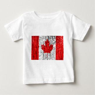 Canadian Flag Tree Bark Baby T-Shirt