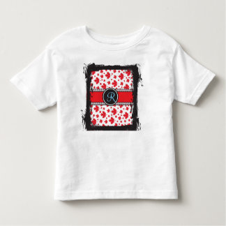 Canadian Flag Trendy Maple Leaf Abstract Monogram Toddler T-shirt