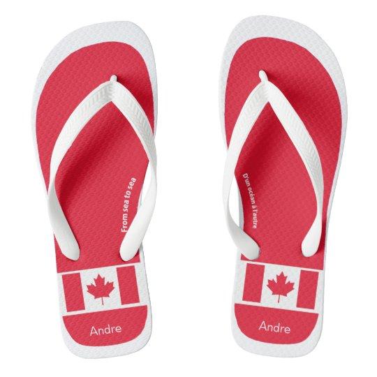 f443967fd6c10c CANADIAN FLAG  True Colors Flip Flops