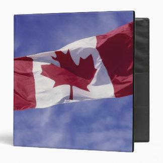 Canadian flag vinyl binder