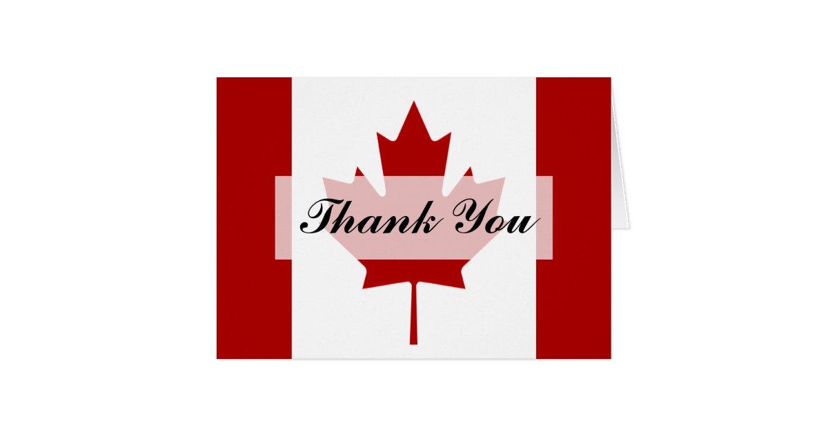 Wedding Gift Cards Canada : Canadian Flag Wedding Thank You Card Zazzle