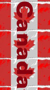 b6da632702f2cc Canadian Flag with Canada Printed in Red Flip Flops
