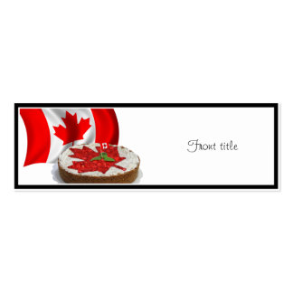 Canadian Flag with Cherry Maple Leaf Cake Business Card Template