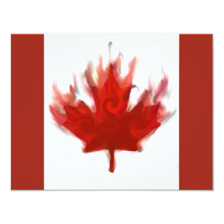 canadian flag with olympic rings card