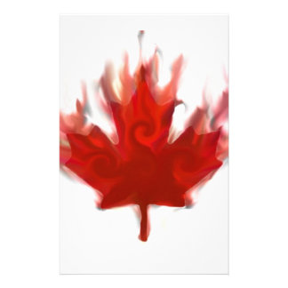 canadian flag with olympic rings stationery