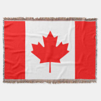 Canadian flag woven throw blanket | Canada leaf