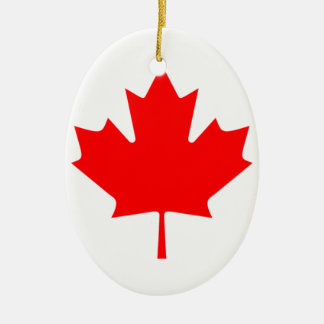 Canadian FlagPattern Ornaments