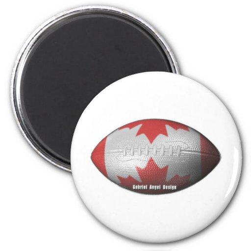 Canadian Football Fridge Magnet