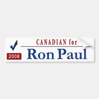 Canadian for Ron Paul_redtext Car Bumper Sticker