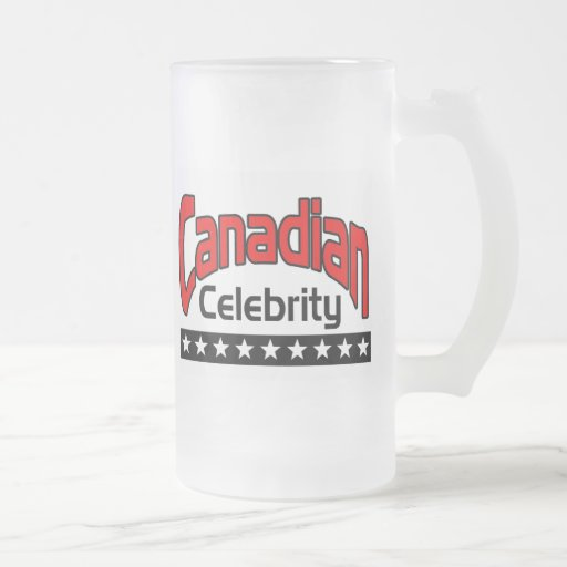 Canadian Frosted Glass Beer Mug