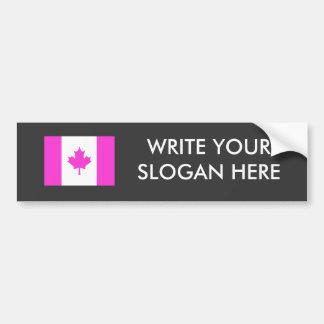 Canadian Gay Pride Car Bumper Sticker