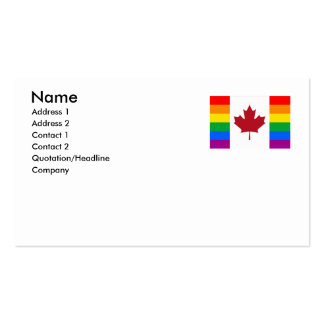 CANADIAN GAY PRIDE FLAG Double-Sided STANDARD BUSINESS CARDS (Pack OF 100)