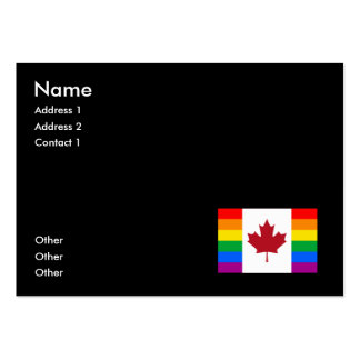 CANADIAN GAY PRIDE FLAG LARGE BUSINESS CARDS (Pack OF 100)